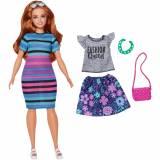 Mattel Barbie Fashionista păpuşă roşcată cu rochie - FJF67-FJF69