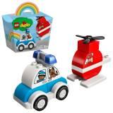 LEGO DUPLO  Elicopter de pompieri și mașina de poliție