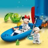 LEGO Disney Mickey and Friends Racheta spatiala a lui Mickey Mouse si Minnie Mouse
