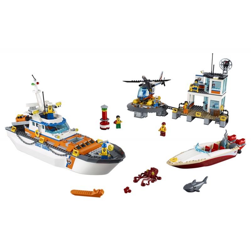 60167 LEGO® City Sediul central al Gărzii de coastă