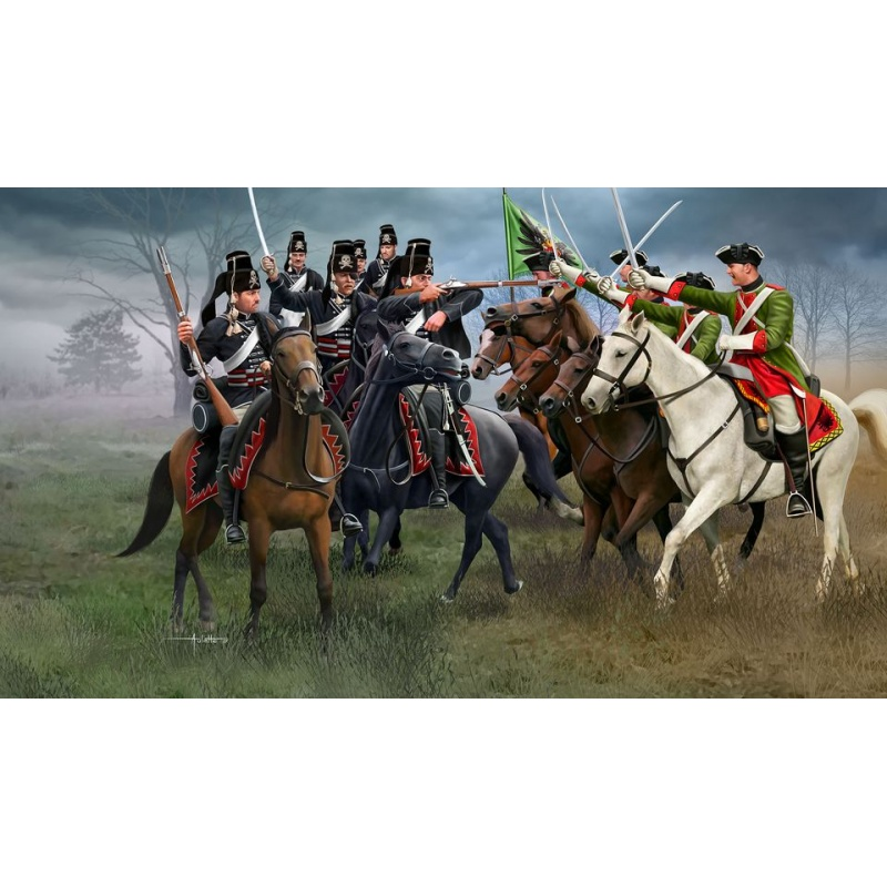 Figurine Revell - Razboiul de sapte ani - Cavalerie austriaca si hussari prusaci - RV2453