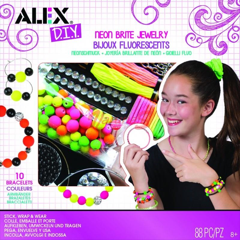 Bijuterii fluorescente, bratari, inele si coliere - AlexToys (AX1725-5)