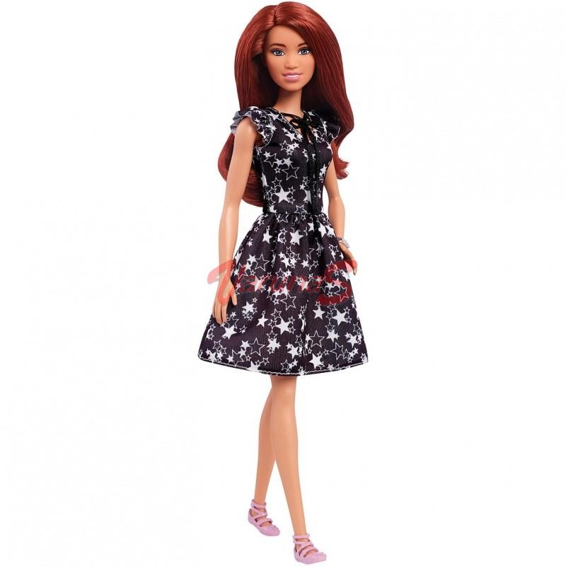 Papusa Mattel Barbie Fashionistas cu rochie neagra - FBR37-FJF39