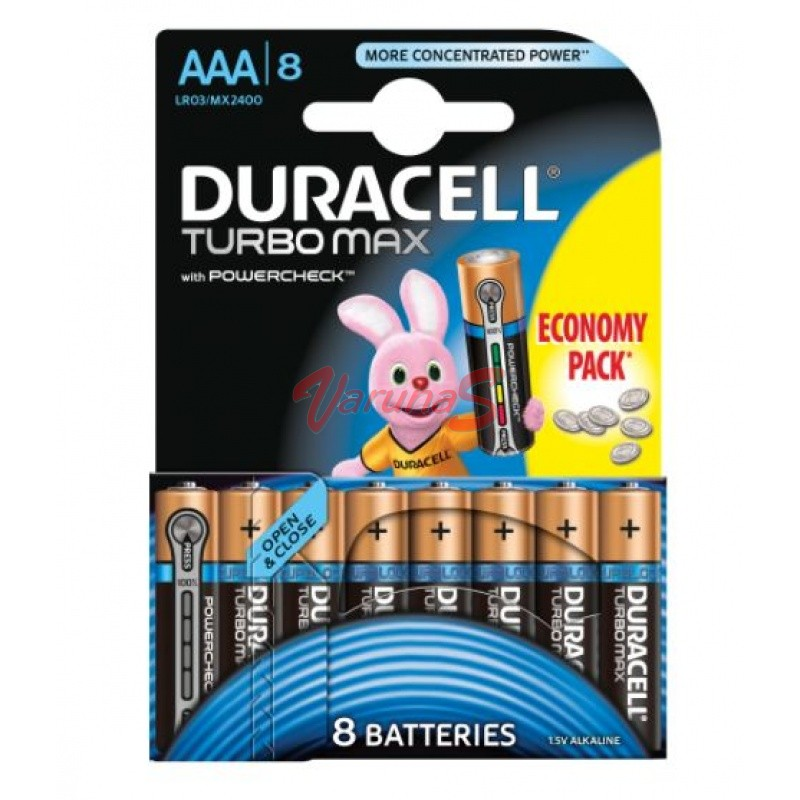DURACELL BATERIE TURBO MAX AAAK8