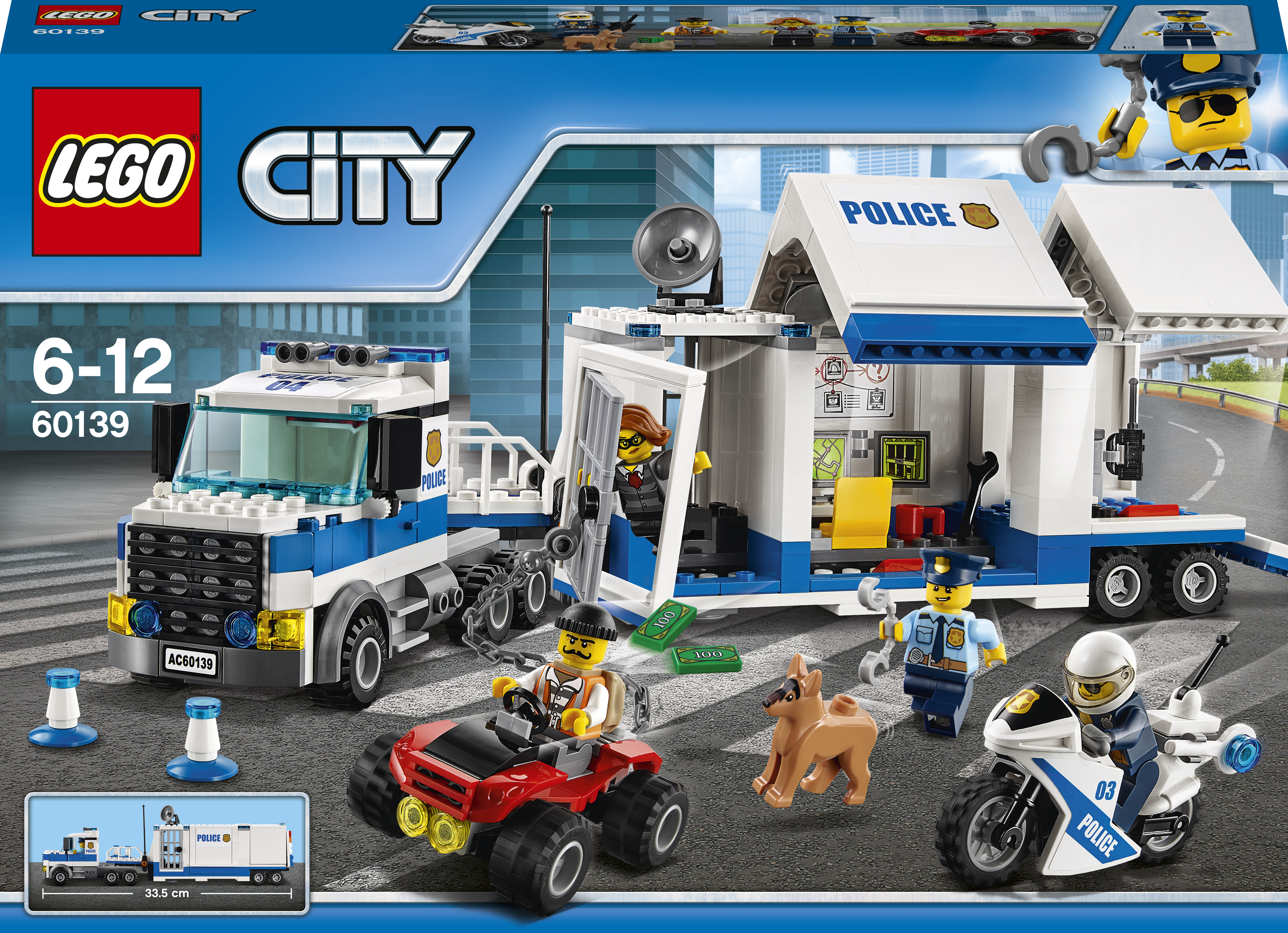 LEGO City Police Centru de comanda mobil - L60139
