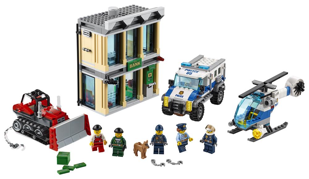 LEGO City Police Spargere cu buldozerul - L60140