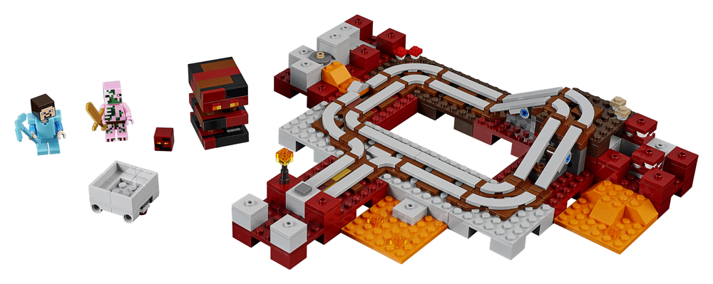 LEGO Minecraft Calea Ferata Nether - 21130