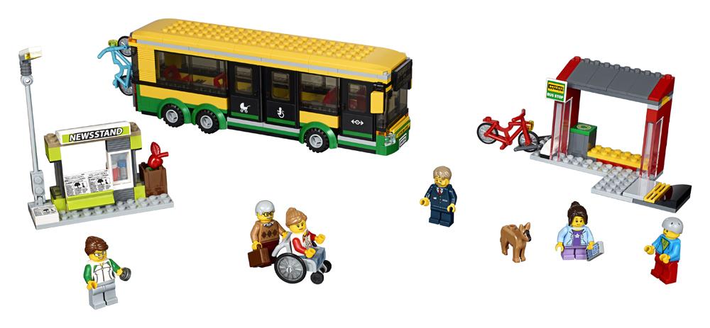 60154 LEGO City Staie de autobuz