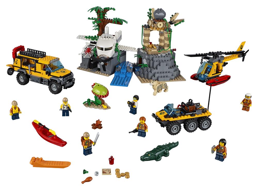 60161 LEGO City Amplasamentul de explorare din jungl