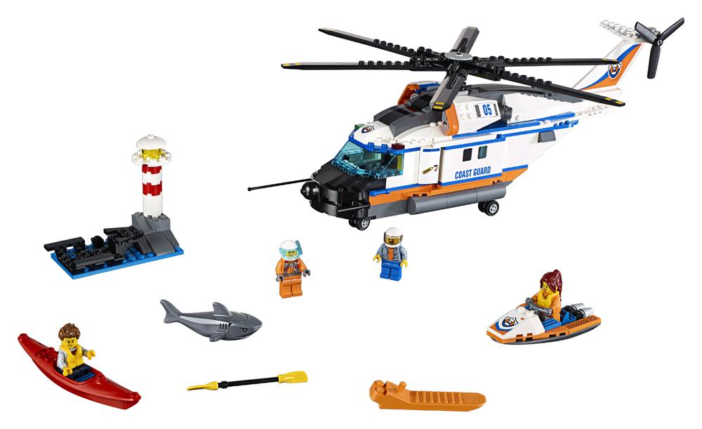 60166 LEGO City Elicopter de salvare pentru condiii grele