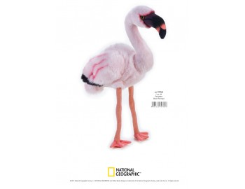 Jucarie Plus Venturelli - National Geographic Flamingo 45 Cm - AV770760