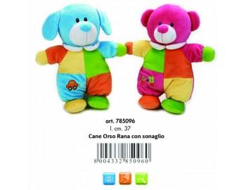 Jucarie Plus Venturelli - Lelly Baby Caine si urs cu sunete - AV785096