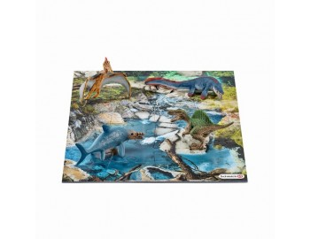 Mini Dinozauri  Puzzle 24 Piese - Apa Schleich-42330