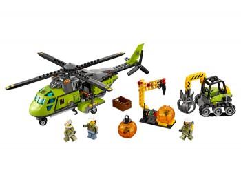 LEGO - City Volcano Explorers - Elicopter de aprovizionare la vulcan - 60123