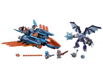 LEGO® NEXO KNIGHTS™ Avionul Falcon Blaster al lui Clay - L70351