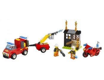 LEGO Juniors Valiza Patrula de pompieri - L10740