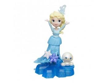 Mini Papusa - Disney Frozen Elsa, cu baza-suport - HBB9249-B9873