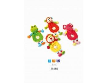 Jucarie Plus Venturelli - Plusuri de bebe cu animalute Doudou - AV785105