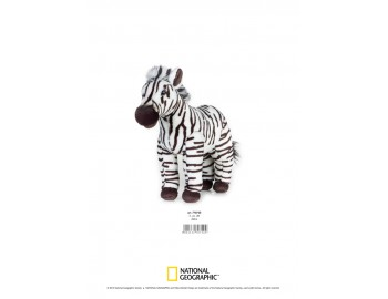 Jucarie Plus Venturelli - National Geographic Zebra 28 cm - AV770720